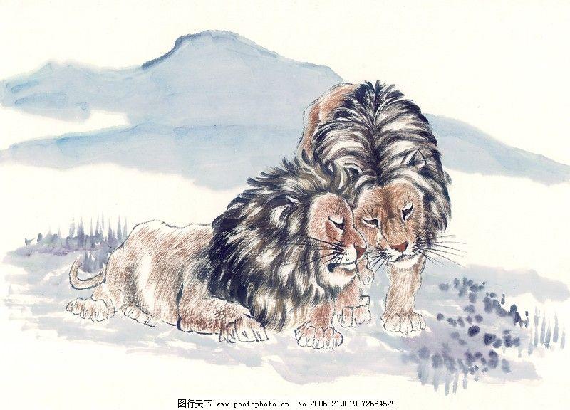 中国动物画0109_绘画书法_文化艺术_图行天下图库