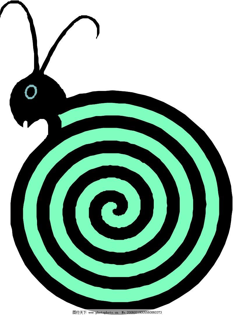 圆形画出来的动物图片