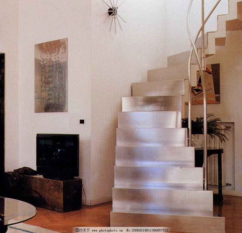 楼梯设计0082_室内设计_装饰素材_图行天下图库