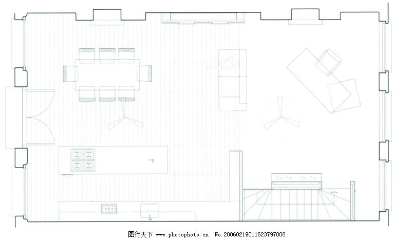 家庭办公室0019_室内装饰_装饰素材_图行天下图库