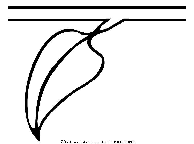不规则线条图案手绘
