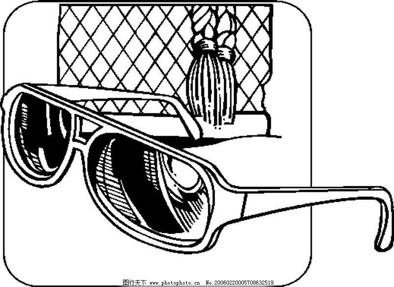 一副眼镜简笔画