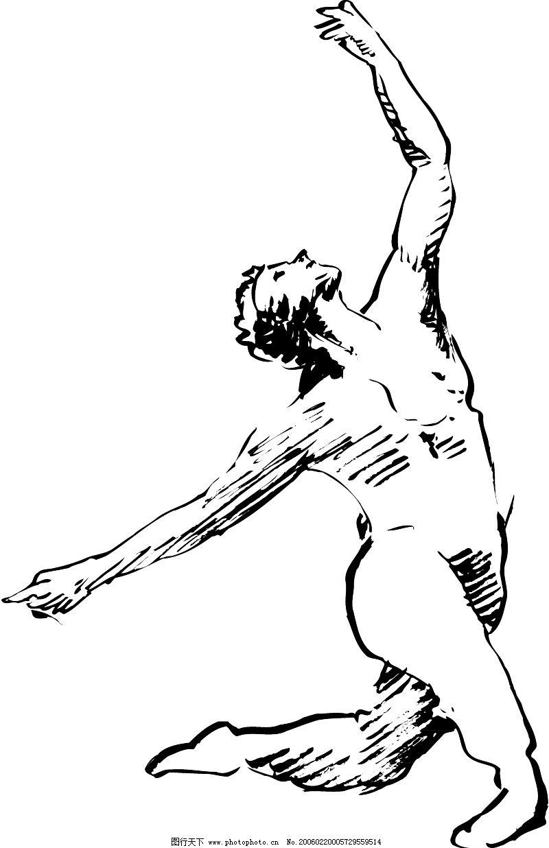 手绘舞蹈训练图片