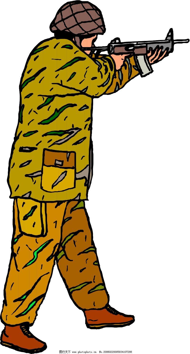 军人0092_现代科技_矢量图