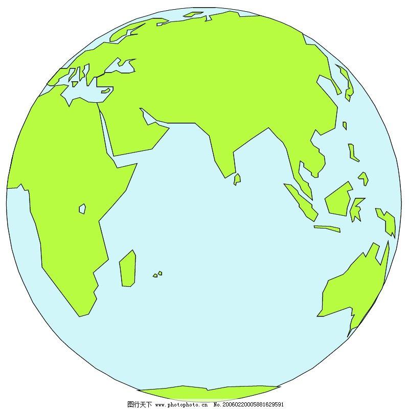 地球自转纹路手绘