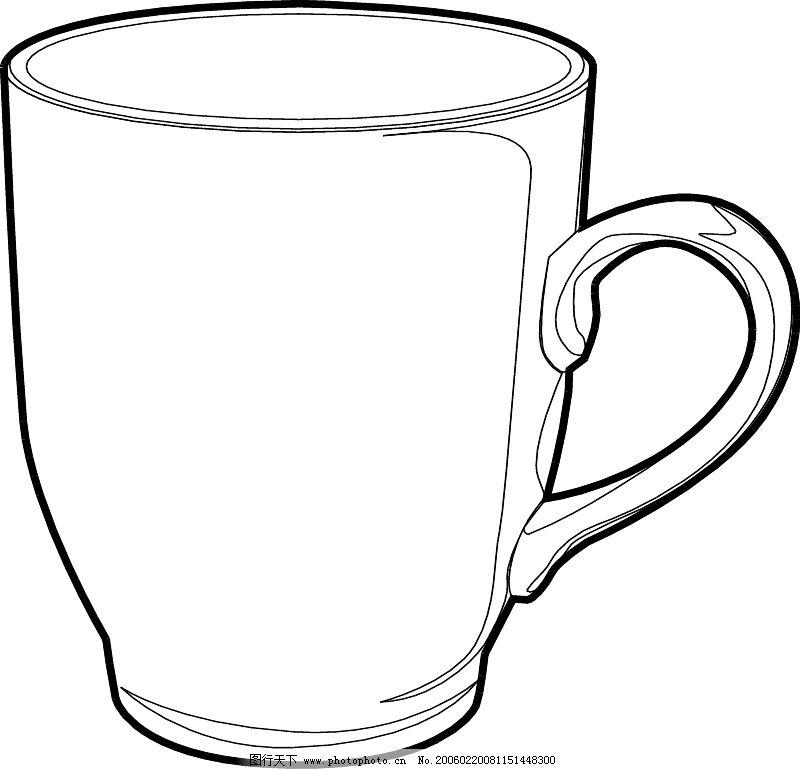 杯子的简笔画-simplified