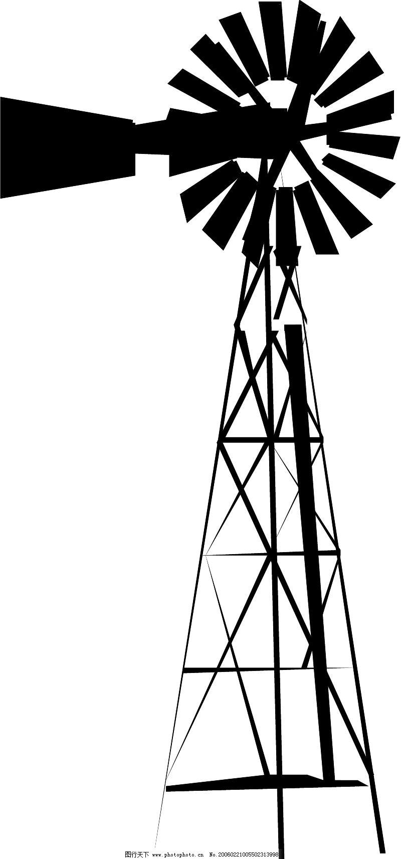 农业机械与庄稼0203_其他_矢量图_图行天下图库