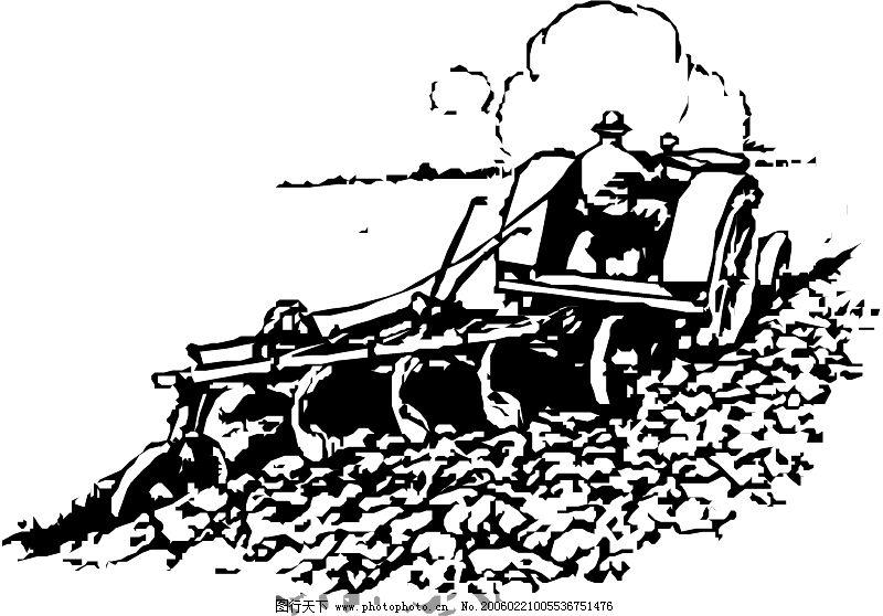 农业机械与庄稼0248_其他_矢量图_图行天下图库