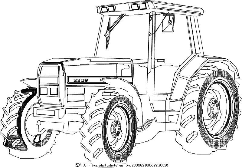 农业机械与庄稼0035_其他_矢量图_图行天下图库