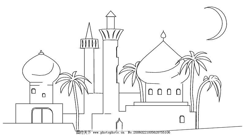 城市简笔画简单